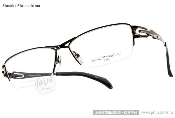 Masaki Matsushima 光學眼鏡 MF1185 C04 (黑) β 鈦金屬系列 質感半框 #金橘眼鏡