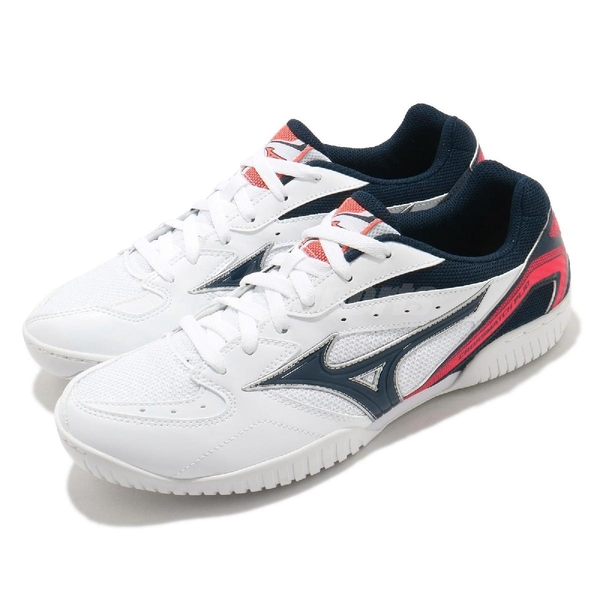 Mizuno 桌球鞋 Crossmatch Plio RX4 白 藍 男鞋 室內 運動鞋 【ACS】 81GA1830-14