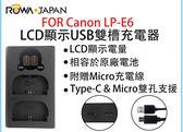 呈現攝影-ROWA樂華 USB米奇雙槽充電器 FOR canon LPE6 LCD顯示USB雙槽