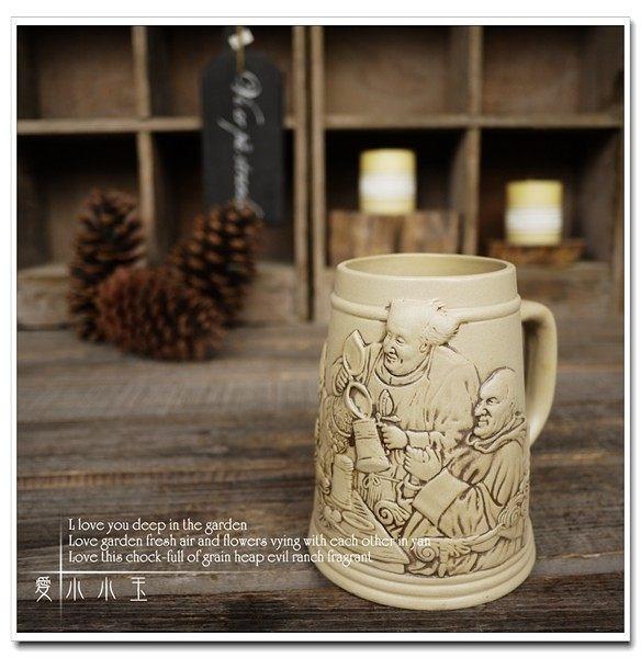【歡聚小酒館】陶瓷德國啤酒杯創意