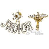 茱麗葉精品【全新現貨】Christian Dior J'ADIOR 復古不對稱珍珠造型耳環.金