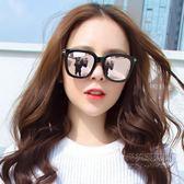 復古圓臉大框方形黑超墨鏡女韓版潮流街拍偏光太陽鏡