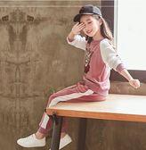 女童春秋金絲絨洋氣套裝時髦運動中大童裝兩件套第七公社