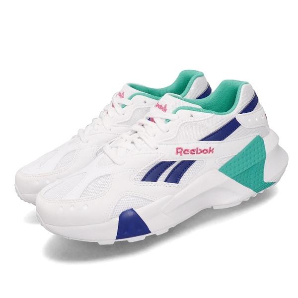 【五折特賣】Reebok 休閒鞋 AZTREK Double 93 白 藍 女鞋 運動鞋 老爹鞋 【ACS】 EF3456