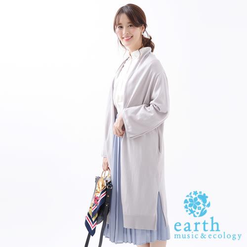 ❖ Hot item ❖ 長版開襟喇叭袖設計針織罩衫 - earth music&ecology