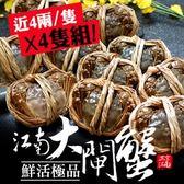[屏聚美食] 肥美鮮活江南大閘蟹4隻組(4兩上/隻)_買2件以上每件↘1088元