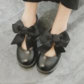 娃娃鞋 日系洛麗塔lolita厚底女鞋可愛蝴蝶結圓頭原宿平底軟妹皮鞋 - 古梵希