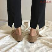 衣普菈 黑色復古港味九分韓版寬鬆直筒西裝褲 衣普菈