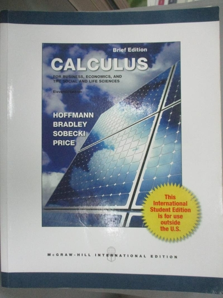 【書寶二手書T6/大學商學_ZBO】Calculus-for Business…_Hoffman, Bradley