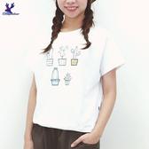 【春夏新品】American Bluedeer - 仙人掌刺繡上衣 二色