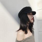 春季棉麻海軍帽子女夏韓版百搭英倫復古貝雷八角帽遮陽畫家報童帽