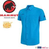 【MAMMUT Trovat Trail Shirt 男/L《帝國藍》】1015-00070-5528/長毛象/彈性透氣快乾/短袖襯衫★滿額送