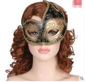 派對化妝舞會公主孔雀羽毛半臉閃光面具