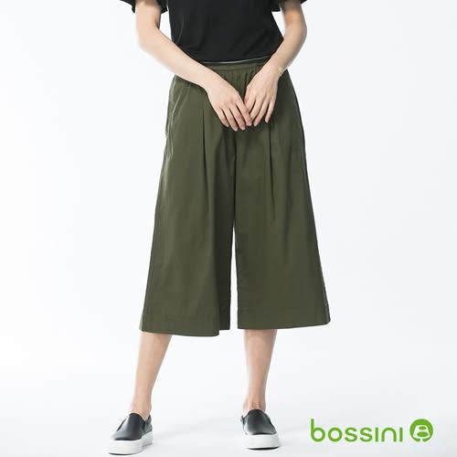 素色七分寬褲03軍綠-bossini女裝