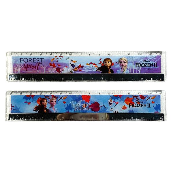 迪士尼Disney 冰雪奇緣2 15公分鐵邊尺 2款(FOREST/JOURNEY) 【金玉堂文具】