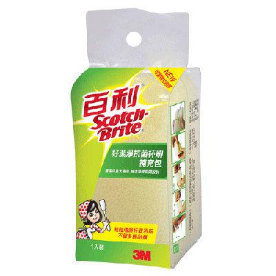【奇奇文具】3M 888-10 百利好潔淨抗菌杯刷補充包/替換包(1片入)
