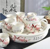 茶具套裝陶瓷景德鎮 茶壺茶杯白瓷GZG508【每日三C】