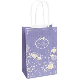 《荷包袋》手提紙袋大8K 復刻玫瑰-藍紫(紙繩)