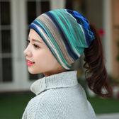 帽子夏女春潮韓版百搭睡帽春季套頭月子帽頭巾帽包頭帽薄款igo 【PINKQ】