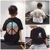 男童T恤 新款夏裝兒童裝韓版男童港風卡通短袖T恤衫潮寶寶中大童體恤  新年下殺