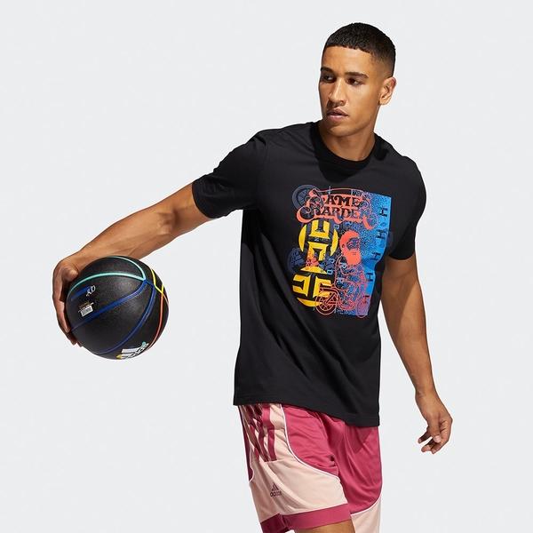 Adidas HARDEN AVATAR SCOOTER TEE 男裝 短袖 T恤 印花圖案 棉 黑【運動世界】GP3429