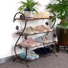 簡易學生鞋架鐵藝多層宿舍組裝收納鞋架經濟型現代簡約防塵小鞋柜 橙子精品