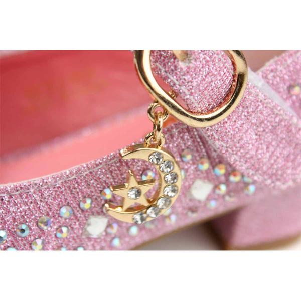 小女生鞋 娃娃鞋 低跟 粉紅色 蝴蝶結 水鑽 童鞋 B3286 no115