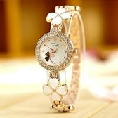 石英錶-個性四葉草韓版手鍊造型女手錶71r48【時尚巴黎】
