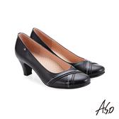 A.S.O 義式簡約 交叉裝飾鞋面高跟鞋