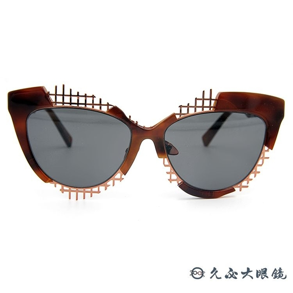 HAZE 太陽眼鏡 貓眼 個性 墨鏡 VOZ-6BN 棕-玫瑰金 久必大眼鏡