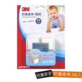 3M兒童安全防護桌角透明 6入