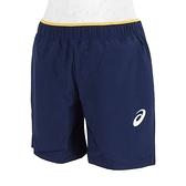 Asics Shorts [2044A024-400] 大童 短褲 網球 運動 休閒 透氣 雙側口袋 深藍