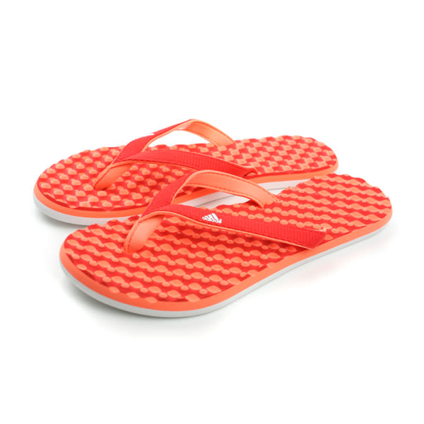 adidas eezay dots W 夾腳拖鞋 人字拖 戶外 好穿脫 橘色 女鞋 B40848 no066