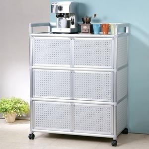 Homelike 鋁合金3尺六門收納櫃