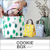 環保手提隔熱防水袋 野餐袋 保冰袋 塗鴉小魚 小鴨 樹木 *餅乾盒子*