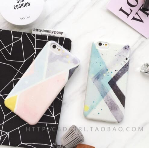 【SZ25】YY iphone 6s 手機殼 簡約 幾何 水彩 撞色 全包 軟殼 手機殼 iphone 6s plus iphone 6 plus手機殼