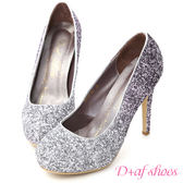 婚鞋 D+AF 璀璨奇蹟.漸層閃料亮片水台高跟鞋*紫