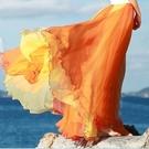 洋裝 沙灘裙2020春夏新款半身裙 8米大擺裙復古長裙 夏波西米亞半身雪紡長裙 店慶降價