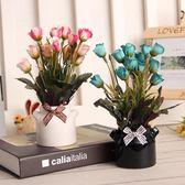 創意家居裝飾擺件桌面雜物小物件擺放假花花卉盆栽套裝飾品