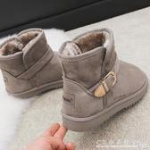 雪地靴女短筒冬季短靴韓版百搭學生棉鞋加絨保暖短靴潮 CR水晶鞋坊
