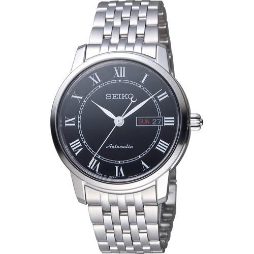 SEIKO 精工 Presage 羅馬假期機械錶 4R36-04E0X 銀x黑 SRP765J1