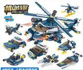 兼容積木男孩子6益智力玩具7拼裝機器人8小車合體9禮物10  雙12鉅惠