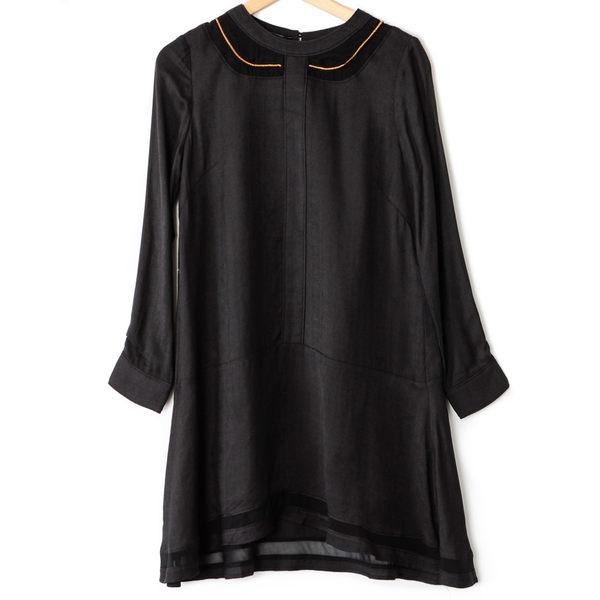 【MASTINA】金屬波浪洋裝-黑 好康優惠