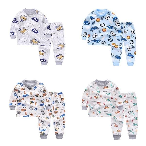 長袖套裝 加絨加厚嬰兒家居服 秋冬滿版童裝 HY10203 好娃娃