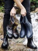 雨鞋雨鞋男加絨中筒防水鞋冬季膠鞋防滑勞保洗車工地時尚保暖雨靴 酷斯特數位3c