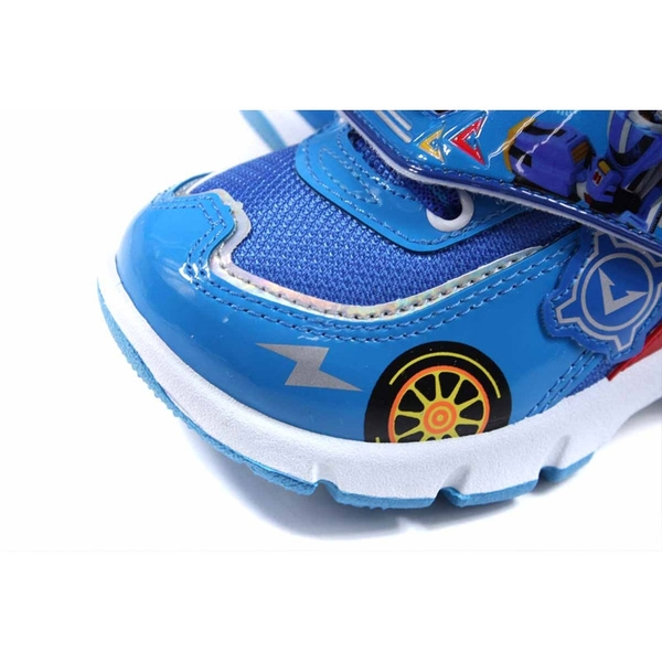 機器戰士 TOBOT 休閒運動鞋 電燈鞋 魔鬼氈 藍色 中童 童鞋 TBKX00606 no735