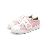日系原創洛麗塔Lolita軟妹子小白鞋圓頭粉色愛心魔術貼可愛運動鞋