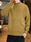 毛衣 毛衣男士半高領寬鬆秋冬保暖內搭冬季線衣打底毛衫外套