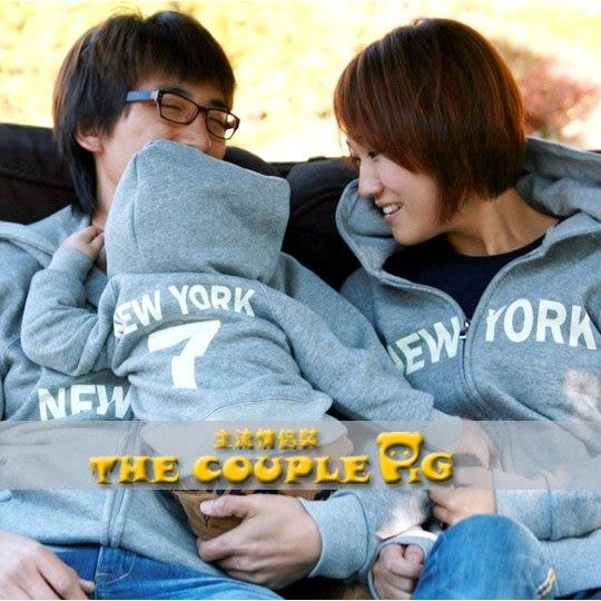 *甜蜜蜜親子童裝*冬款刷毛《紐約幸運7》長袖親子裝♥情侶裝【CPW14】