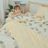 [SN]#U094#細磨毛天絲絨6x6.2尺雙人加大床包被套四件組-台灣製